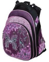 Школьный рюкзак для девочки с ортопедической спинкой Hummingbird Teens T86 Butterfly Flowers