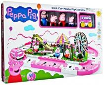 """Игровой набор дорога и парк с аттракционами """"Свинка Пеппа"""" 3d пазл 91 pcs"""