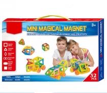 Конструктор магнитный MINI MAGICAL MAGNET 32 детали