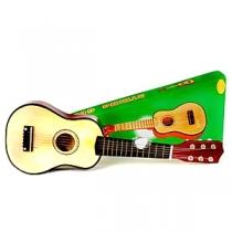 Детская деревянная шести струнная гитара