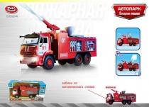 Грузовик инерционный пожарная машина Автопарк КАМАЗ свет+звук