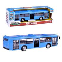 Автобус инерционный Автопарк свет+звук масштаб 1:43