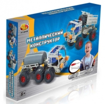 Детский металлический конструктор грузовики