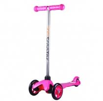 Детский трёхколёсный самокат 21st scooter mini Розовый