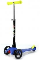 Детский трёхколёсный самокат Mobi Kids с выдвижной ручкой 2016 синий