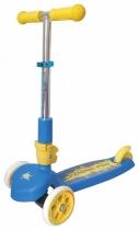 Детский трёхколёсный самокат TT Cosmic Pro с выдвижной складной ручкой 2016 Сине-желтый