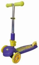 Детский трёхколёсный самокат TT Cosmic Pro с выдвижной складной ручкой 2016 Фиолетово-жёлтый