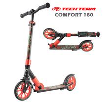 Двухколёсный самокат Tech Team TT Comfort 180R Чёрно-красный