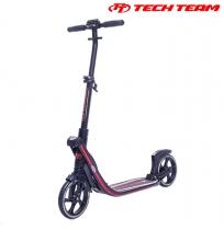 Двухколёсный самокат Tech Team TT Concept 210 мм складной Черно-красный