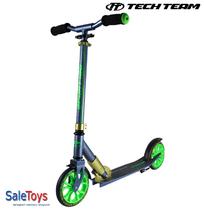 Двухколёсный самокат Tech Team TT Sport 180 мм 2018 складной Сине-зелёный