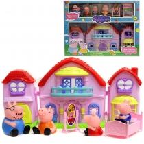 Игровой набор Дом свинки Пеппы с мебелью+4 фигурки