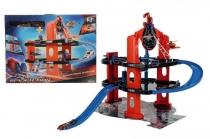 Игровой набор Подземный Гараж Человека Паука + 1 Вертолет Majorette