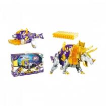 Игрушка Динобот трансформер Трицератопс Dinobots 2 в 1 пистолет и робот динозавр