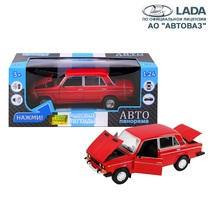 """Модель машины """"Автопанорама"""" 1:22 ВАЗ 2106 Красный (свет, звук)"""