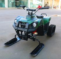 Детский Квадроцикл-снегоход, вездеход MICAR Mini Snow 3 в 1 бензиновый 63 см3 Хаки