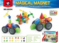Магнитный конструктор MAGNETIC BLOCKS техника 34 детали