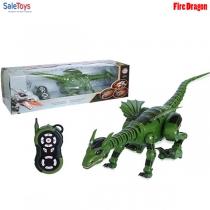Радиоуправляемый динозавр дракон Fire Dragon 28109 зелёный