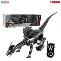 Радиоуправляемый динозавр дракон Fire Dragon 28109 Серый