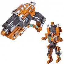 Робот пистолет 2 в 1 Devik Toys K01 Flasher Трансформер с 6 мягкими патронами