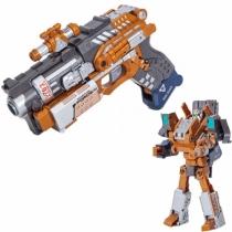 Робот пистолет 2 в 1 Devik Toys K03 Slider Трансформер с 6 мягкими патронами
