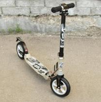 Самокат с надувными колёсами 200 мм Capella Town Rider S204А grey