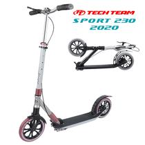 Городской самокат Tech Team Sport 230R 2020 Вишнево-стальной