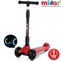 Детский трёхколёсный самокат Scooter Maxi Micar Ultra Spider складной со светящимися колёсами