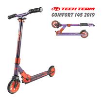 Двухколёсный самокат Tech Team TT Comfort 145 мм 2019 Фиолетово-оранжевый