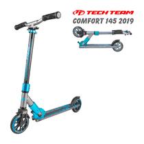 Двухколёсный самокат Tech Team TT Comfort 145 мм 2019 Серо-синий