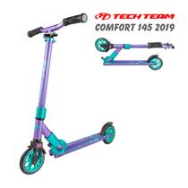 Двухколёсный самокат Tech Team TT Comfort 145 мм 2019 Фиолетово-бирюзовый