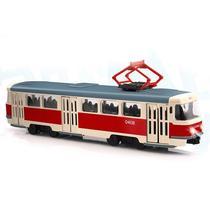 Трамвай инерционный Tatra T3SU Автопарк свет+звук масштаб 1:54