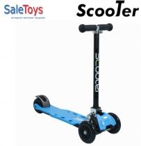 Трёхколёсный самокат Scooter Maxi складной blue