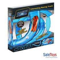 Трубопроводные гонки chariots speed pipes 16 деталей+1 машинка+светящийся мячик