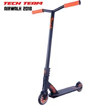 Трюковой самокат Tech Team Airwalk 2018 Чёрно-оранжевый