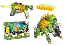 Игрушка Динобот трансформер Стегозавр Dinobots 2 в 1 пистолет и робот динозавр
