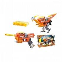 Игрушка Динобот трансформер Велоцираптор Dinobots 2 в 1 пистолет и робот динозавр