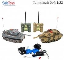 Радиоуправляемый танковый бой 1:32 AB Toys 508-10