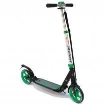 Самокат с амортизаторами 21st scooter колёса 200 мм green
