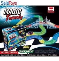 Трасса Magic Tracks 360 деталей+2 машинки с мостом