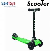 Трёхколёсный самокат Scooter Maxi складной Green