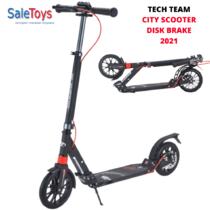 Двухколёсный самокат Tech Team City Scooter Disk Brake 2021 Чёрный
