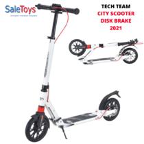 Двухколёсный самокат Tech Team City Scooter Disk Brake 2021 Белый