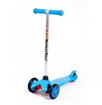Детский трёхколёсный самокат 21st scooter mini Синий