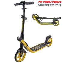 Городской самокат Tech Team TT Concept 210 мм 2019 складной Черно-жёлтый