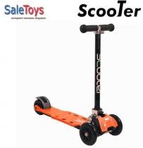 Трёхколёсный самокат Scooter Maxi складной Orange
