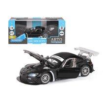 """Модель машины """"Автопанорама"""" 1:24 BMW Z4 GT3, черный (свет, звук)"""