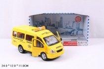 Автомобиль инерционный маршрутное такси Автопарк 3221 Газель свет+звук