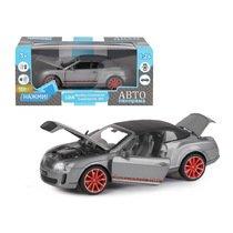 """Модель машины """"Автопанорама"""" 1:24 Bentley Continental Supersports ISR, серый металлик (свет, звук)"""