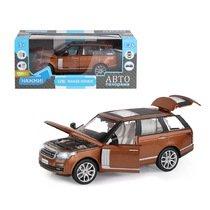 """Модель машины """"Автопанорама"""" 1:26 Range Rover, оранжевый (свет, звук)"""