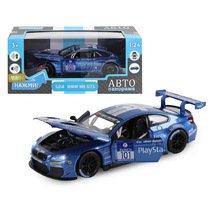 """Модель машины """"Автопанорама"""" 1:24 BMW M6 GT3, синий (свет, звук)"""